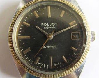 Rare Soviet/USSR Automatic men's wrist watch - POLJOT 23 JEWELS