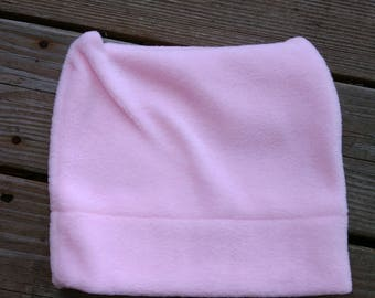 Pink fleece pussy hat, beanie, women's march hat, polar fleece, pink pussyhat, feminism, girl power