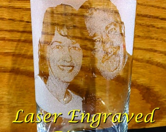 Laser Engraved 16oz Pint Glasses