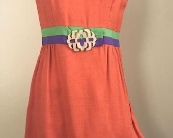 Vintage Mod Orange Dress