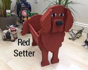 RED SETTER wooden garden planter