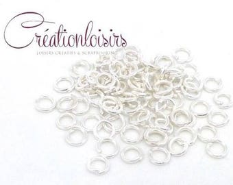 150 rings of junction 3.5 mm silver plated color
