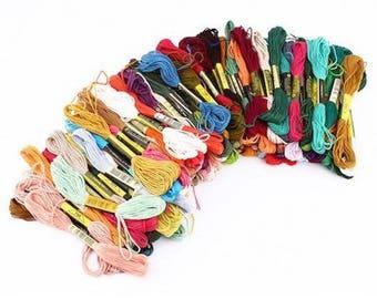 50 skeins of yarn for bracelet Brazilian embroidery multicolor cross stitch