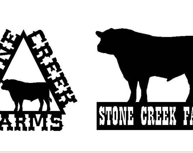 Metal farm sign, Metal Ranch sign, Custom Farm Sign, Ranch Name Sign, Farm Name Sign, Farm Entrance Sign, Farm Gate sign, Cattle Brand Sign