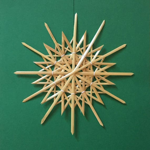 Handmade German Straw Star Ornament