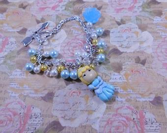 Cinderella's Blue Ball Gown Chain Bracelet