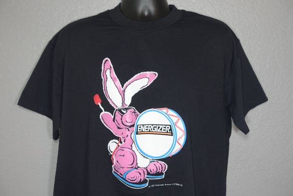 1991 Promotional Energizer Bunny - Nothing Lasts Longer - Everyday Battery Company Vintage T-Shirt