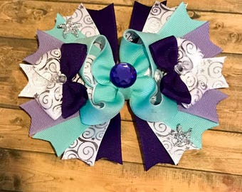 Seaside inspired over the top hair bow