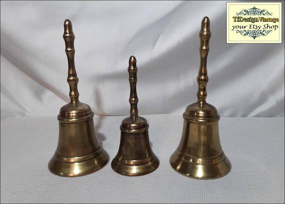 Handbells, Handbell vintage, Small bell, Bronce handbell, Golden bell, Handbell for sale, Handbell for gift, Handbell ring, Vintage handbell