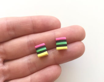 Scented Licorice All Sort Earrings with Stainless Steel Posts - Perfect Gift for the Licorice lover!