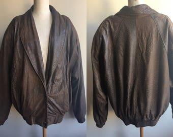 Vintage Leather 80s Jacket