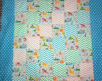 Patchwork baby blanket quilt playmat for nursery or  bedroom various designs