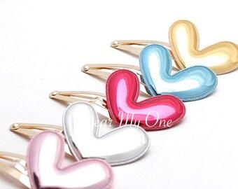Heart, Heart Hair Clip, Heart Hair Pin, Mirrored Heart, Girls Hair Clip, Summer Accessories, Baby Hair Clip, Heart accessories