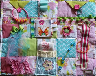 Pretty in Pink Fidget Blanket is Made with Love