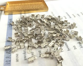 wholesale 500 Pieces /Lot silver Plated 6mmx3.5mm cord end crimp clip