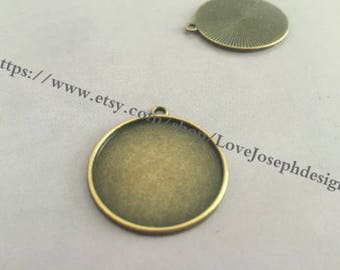 wholesale 100 Pieces /Lot Antique Bronze Plated 20mm cabochon blanks trays charms (#0294)