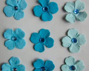 Solde -5% BLUE FLOWERS - Hand made in India