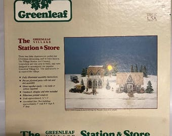 The Greenleaf Village Station And Store Country Emporium Model Train Building