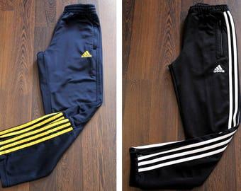 Vintage ADIDAS Pants, Pair of Two Adidas Track Bottoms, Set of Two Adidas Track Pants, Sport Pants, Jogging Pants Junior Size M 150-152 cm