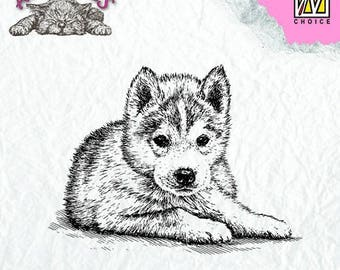 Stamp clear transparent scrapbooking NELLIE's CHOICE dog