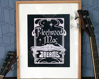 "Fleetwood Mac Poster ""Dreams"" Art Poster Print Wall Decor 120g Satin Sheen Paper"