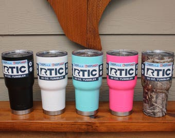 Powder Coated Blank RTIC Tumbler | Coated Stainless Steel Cup | RTIC Tumbler | Similar to Yeti
