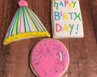 Happy Birthday Cookies Half Dozen