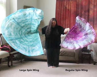 Prophetic - Silk Flag - Worship Flag - Praise Dance - Dyed Silk - Custom, Prophetically Hand-Dyed Spinners and Spin Wing(s)