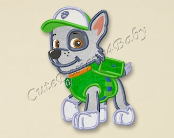 SALE! Paw Patrol Rocky applique embroidery design, Paw Patrol Machine Embroidery Designs, Embroidery designs for baby, Instant download #011