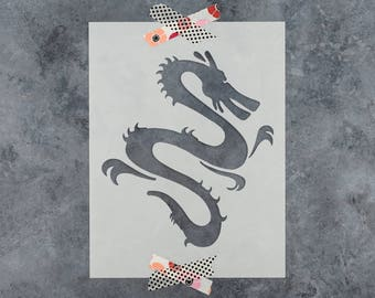 Chinese Dragon Stencil - Reusable DIY Craft Stencils of a Chinese Dragon
