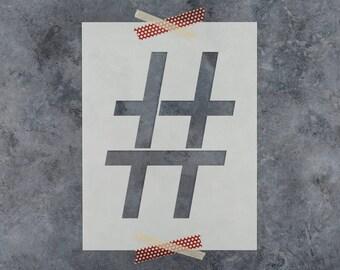 Hashtag Stencil - DIY Reusable Craft Stencils of a Hashtag Symbol