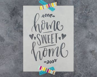 """Home Sweet Home Stencil - Reusable DIY Wood Sign Stencils of a """"Home Sweet Home"""" Letters"""