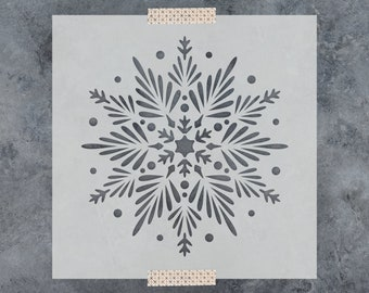 Snowflake Stencil - Reusable DIY Craft Stencils of a Snowflake - Great Christmas Stencils!