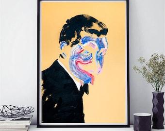 Abstract art print, abstract painting, modern art, portrait, colourful wall art, wall art, , fine art prints, contemporary art, art prints