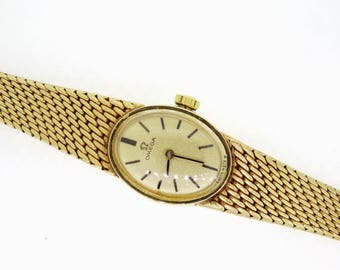 A Ladies 9 Crt Vintage Omega Gold Watch