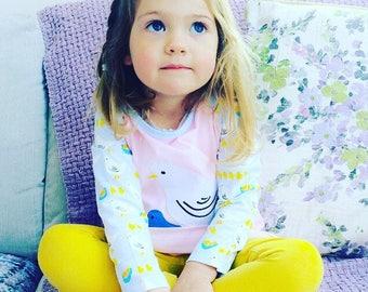 Little Oeuf Chick Dress | Applique Girls Pink Dress | Party Dress | Girls Dress | Summer Dress | Childrens Dress | Kids Dress | Toddler