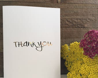 Thank You Card Set // Gold Foil Card Set // Blank Greeting Cards