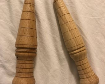 Dibbers - hand turned from Oak