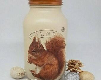 Squirrel/Woodland Animal Design 1 Litre Kilner Jar/Kitchen Decor/Home Decor/Birthday Gift