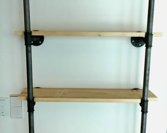 Industrial Look Wall Shelf | Wood | upcycling | Iron | Pipe | Industry look, vintage, retro