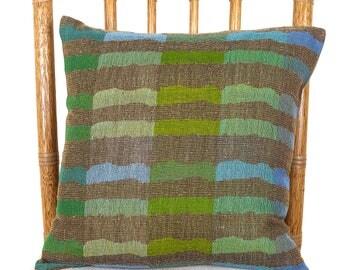 Handwoven Wool Silk Fabric Pillow