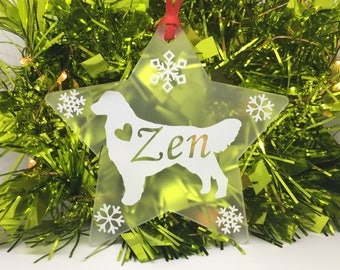 Personalised Dog Christmas Bauble Decoration Gift with Donation to CGI