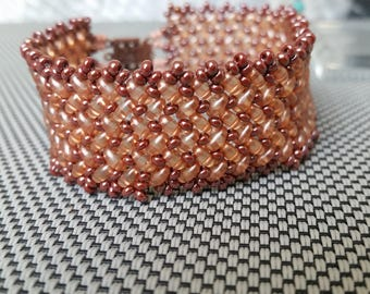 The Texas superduo beaded bracelet