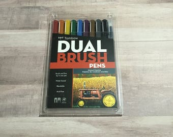Tombow Dual Brush Pens - 10 piece Muted Palette Pack