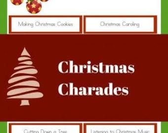 Christmas Charades Game Adults and Children Printable PDF