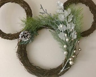 Disney Winter Pine Wreath