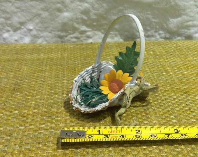 Vintage Flower Basket Accessoires Dollhouse Miniatures