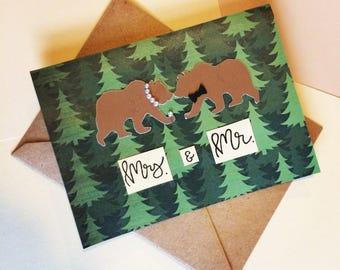 Custom Wedding Card- Mr and Mrs
