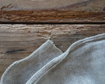 natural HEMP jersey single _ fabric by yard