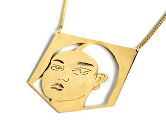 REVA fine gold plated geometric necklace
